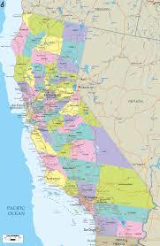 california map in usa california map