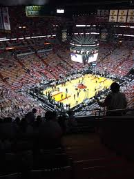 american airlines arena section 402 row 8 seat 1 miami heat