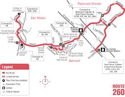 Metro Bus Route Map by 260 Bus Route Samtrans Sf Bay Transit