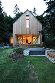 Small House Backyard Modern Small House In Czech By Domesi
