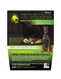 complete green tripe with chicken prodog raw dog food for barf diets