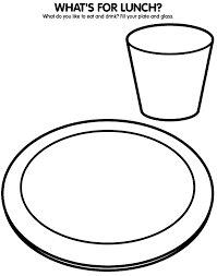 Dinner Plate Coloring Sheet Coloring Pages Plate Coloring Page