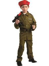 Halloween Costumes Soldier Check Boys Israeli Soldier Costume Wholesale Purim Boys