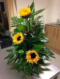 large traditional flower arrangement suitable for a golden wedding