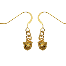 dangler earrings lecalla 22kt yellow gold bud shape dangler earrings by lecalla in