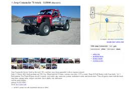 mail jeep for sale craigslist rob maccachren u0027s class 7s comanche is up for sale on craigslist