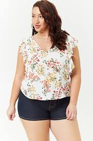 wrap blouses plus size shirts blouses crop tops wrap tops more forever21