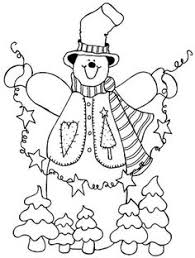 candy man snowman coloring embroidery