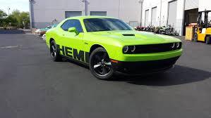 Dodge Challenger Green - dodge challenger hemi matte black accents u2014 incognito wraps