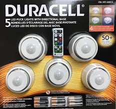 duracell led puck lights duracell 5 led wireless puck lights with remote control white wall