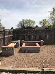 diy cinder block firepit and benches album on imgur