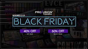 makeup black friday profusion cosmetics black friday sale starts today the budget