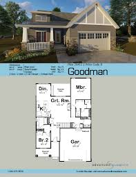 cottage style garage plans 1 story craftsman house plan goodman