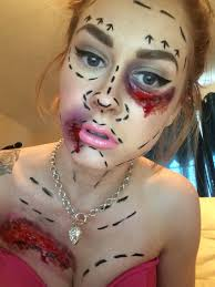 black eye mask halloween costumes plastic surgery fail halloween special effects sfx gory black eye