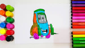 how to draw guido from cars 3 learning color for kids coloring