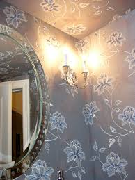 Powder Room 2013 Picture Of The Month A Pretty Powder Room Fabric Wall Upholstery
