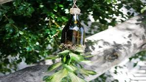 How To Make Planters by Wine Bottle Crafts How To Make Wine Bottle Planters