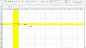 highlight selected row or column in excel vba clrl z u003d undo youtube