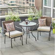 Balcony Bistro Set Patio Furniture Hton Bay Balcony Patio Bistro Set Fcs80223ast