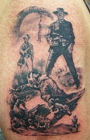cowboy western tattoo on upper back photos pictures and