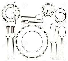 formal place setting clipart clipartpig