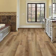 Traffic Master Glueless Laminate Flooring Trafficmaster Allure Ultra Wide 8 7 In X 47 6 In Golden Oak