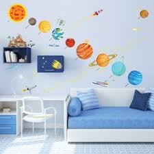 Star Decals For Ceiling by Jumbo Paper Lantern Planets Hanging From Blue Ceiling With Stars