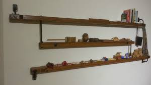 Rustic Book Shelves by Savvy Spex Rustic Book Shelves Made Out Of Old Bed Planks