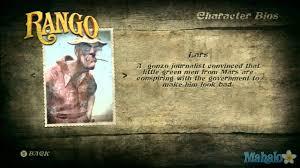 Rango Lars - rango walkthrough character bios youtube