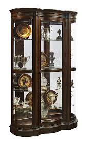curio cabinet curionet black modernnets glass door and