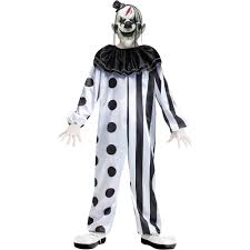 scary halloween costumes for boys fun world killer clown boys u0027 halloween costume walmart com