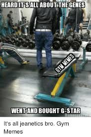 heard it sall about the genes went and bought g star it s all