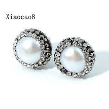 womens stud earrings nature pearl stud earrings fashion women pearl earrings classic