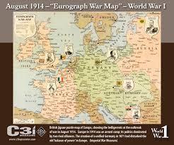 World War One Map by 1 August 1914 U2013 U201ceurograph War Map U201d U2013 World War I C3i Ops Center