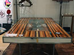 wood for table tennis table interactive and functional this industrial style ping pong table is