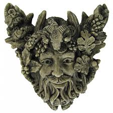 forest god cernunnos small wall plaque pagan wiccan horned god