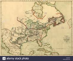 Map Of Spain And France by Map Of North America Showing The Colonies Of France Spain And