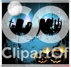 blue halloween background clipart blue halloween background with tombstones and black