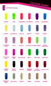 shellac nail polish color chart