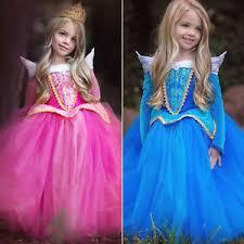 Princess Aurora Halloween Costume Kids Sleeping Beauty Princess Aurora Fancy Dress Xmas
