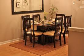 dining room a white square rugs for dining room with wooden