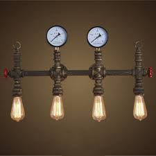 Fashion Style Wall Sconces 4 Pipe Industrial Lighting