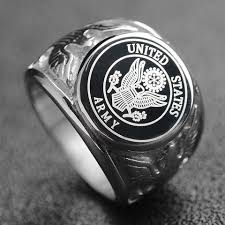 silver steel rings images Army marines silver stainless steel ring aspire gear jpg