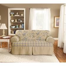 Couch Slipcovers Sure Fit Lexington T Cushion One Piece Sofa Slipcover Hayneedle