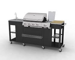 meuble cuisine exterieur inox barbecue complet inox incorporé dans un meuble de cuisine