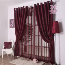 Wine Colored Curtains Modern Simple Style Solid Color Grey Cheap Curtains For Living