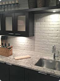 faux brick kitchen backsplash painted brick backsplash possible faux brick panels tile