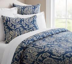 Porcelain Blue Duvet Cover Alessandra Floral Reversible Duvet Cover U0026 Sham Pottery Barn