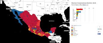 Mexico Political Map by Maps Of The 2015 Mexican Election