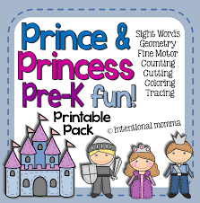 prince and princess printable pack for pre k the intentional momma